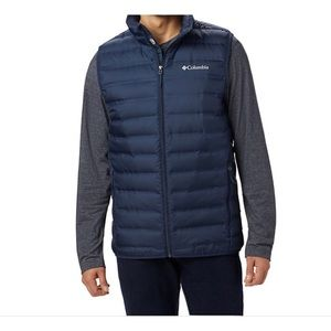 CColumbia Blue Zip Up Puffer Style 650 Vest Small
